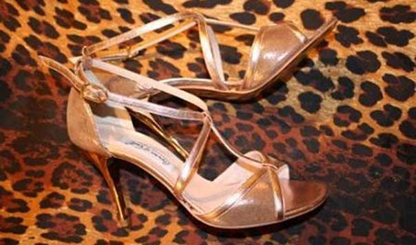 Gorgeous Golden tango shoes- Shoes so good you can wear out of the studio